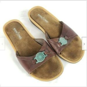 Minnetonka 5743 Slides Flip Flops US 9 EU 40 Brown